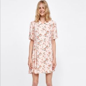Collared Floral Dress by Zara